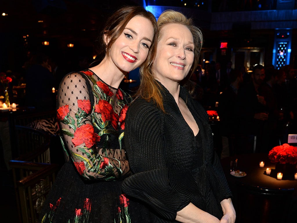 NEW YORK, NY - DECEMBER 08:  Emily Blunt and Meryl Streep attend the after party for the world premiere of