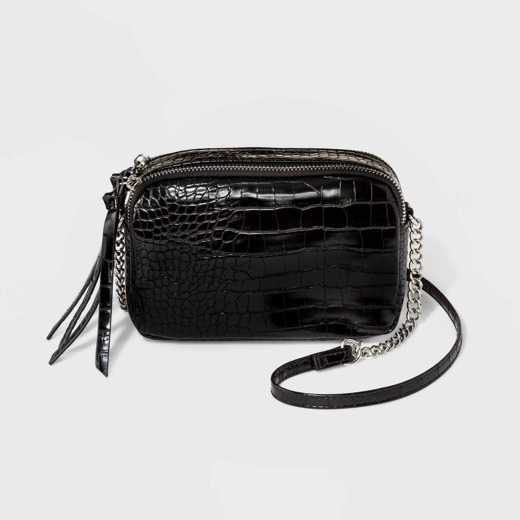 Double Zipper Crossbody Bag