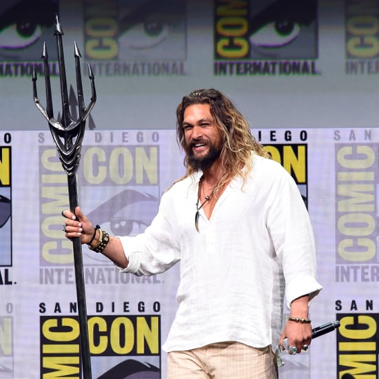 Jason Momoa as Aquaman at Comic-Con July 2017