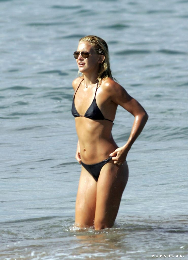 Kate enjoyed the beaches of Maui in a black bikini in September 2006.