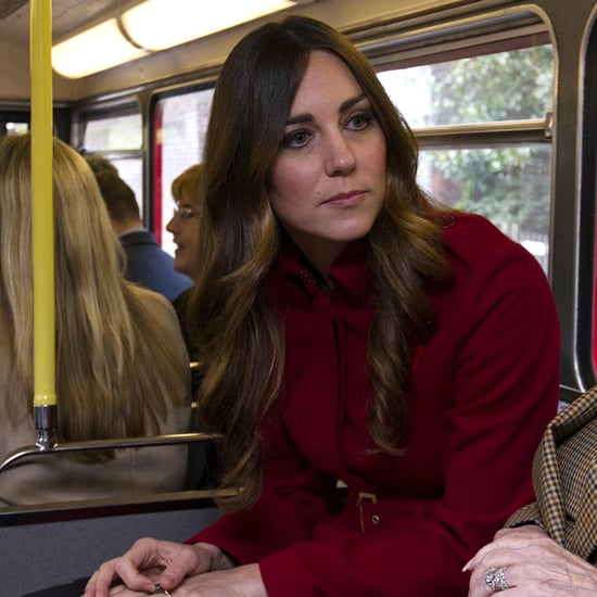 Kate Middleton In Red Coat & New Hair With Prince William