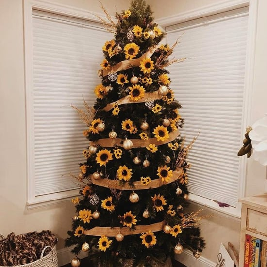 Sunflower Christmas Trees Are the Prettiest New Trend