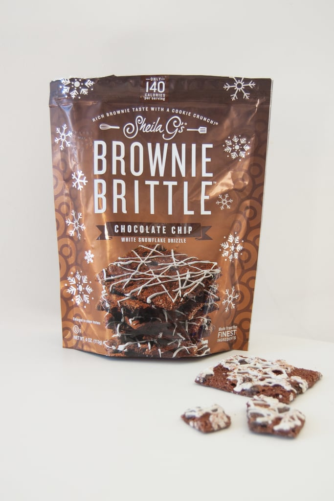 Sheila G's Brownie Brittle in Chocolate Chip With White Snowflake Drizzle