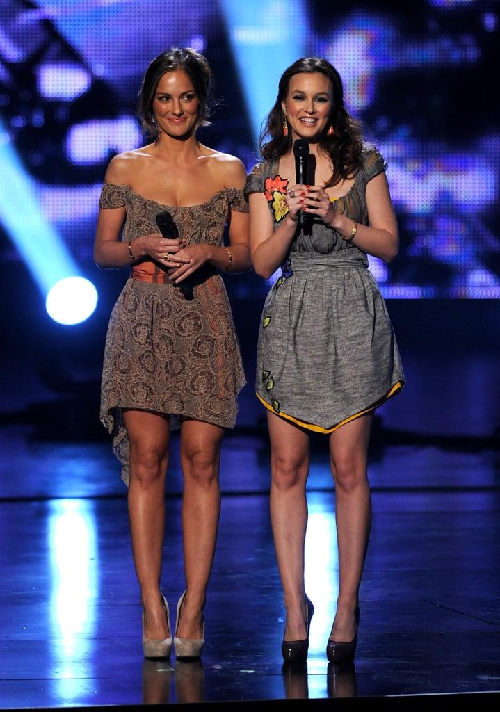 Minka Kelly and Leighton Meester looked sleek in minis in 2011.