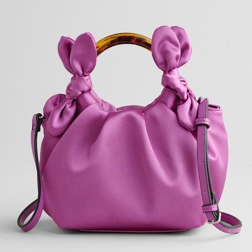 Elizabeth and James Ring Handle Satin Crossbody Bag