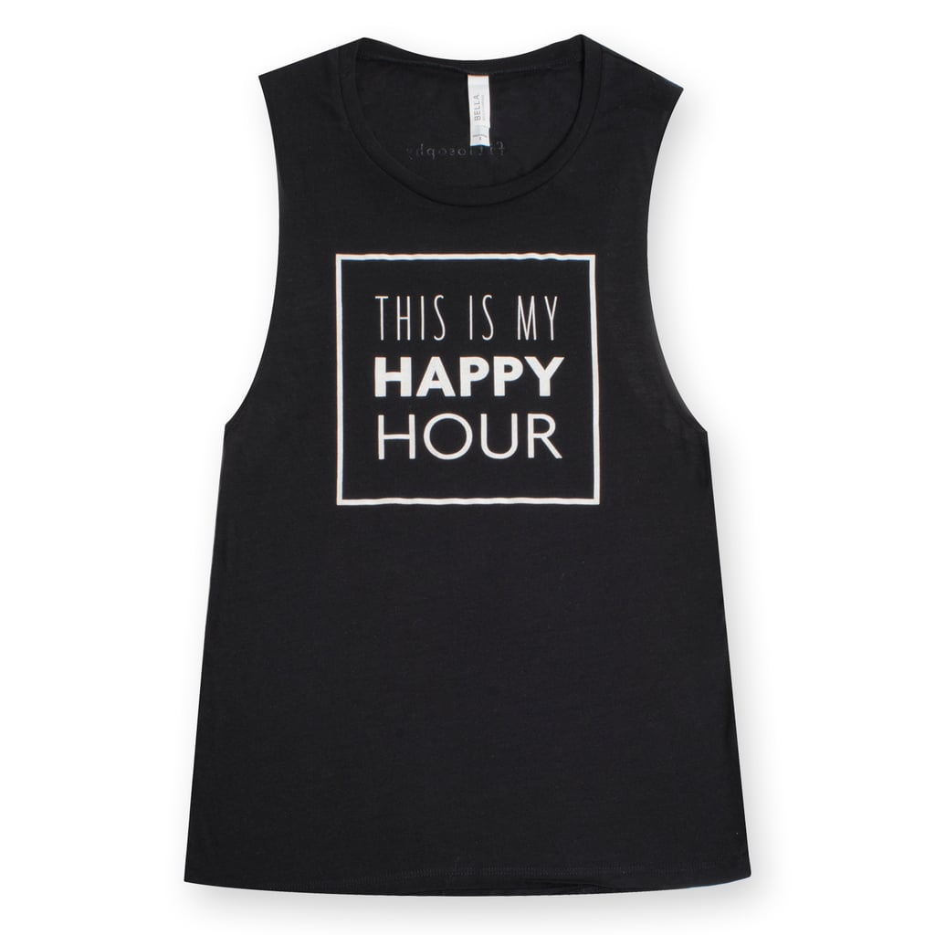 Fitlosophy This Is My Happy Hour Tank