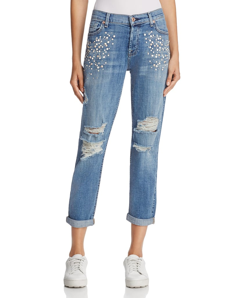 7 For All Mankind Josefina Embellished Boyfriend Jeans