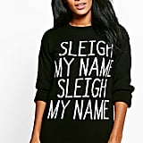 Boohoo Charlotte Sleigh My Name Christmas Jumper