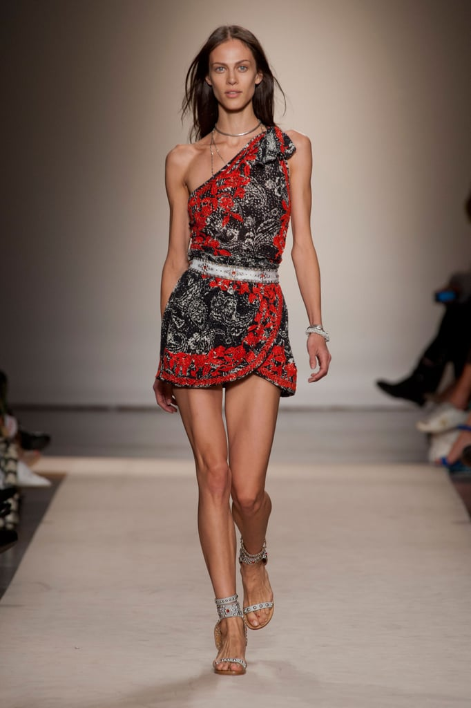 We'd be perfectly outfitted for just about anything in the Spring and Summer with one of the Spring 2013 dresses done up in red-and-black Hawaiian prints.