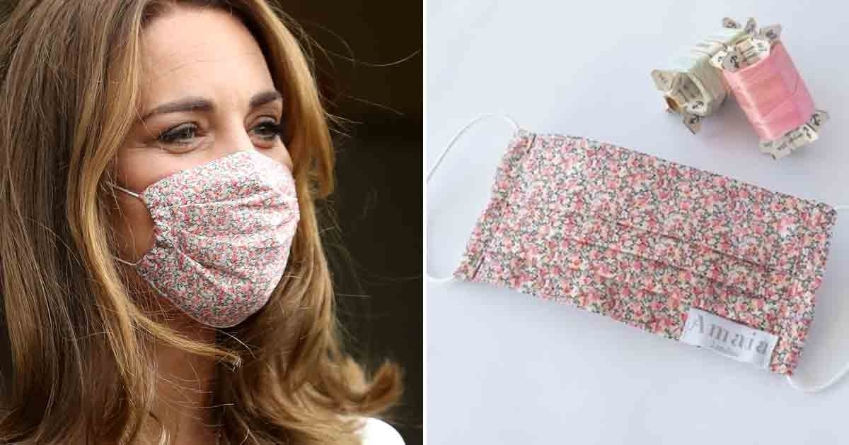 The Duchess of Cambridge Wore a Face Mask From One of Princess Charlotte's Favorite Designers