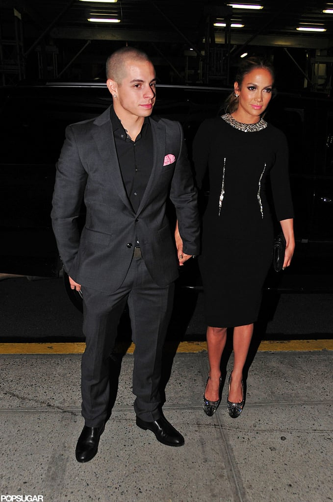 Jennifer Lopez held hands with Casper Smart on the way to a fundraising event in NYC.