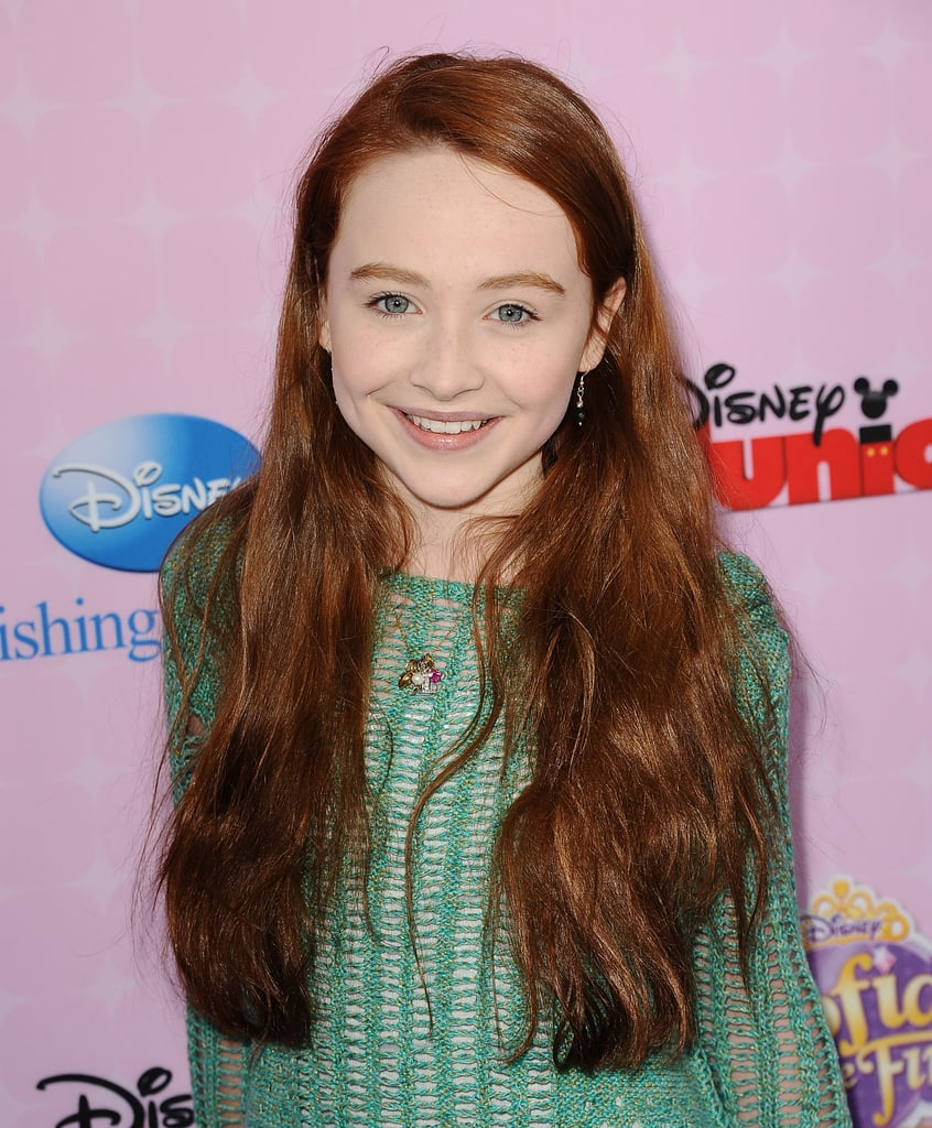 Sabrina Carpenter With Deep Red Hair in 2012