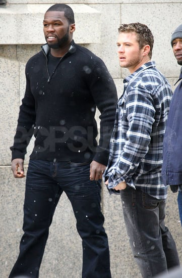 Pictures of Ryan Phillippe and 50 Cent on the Set of Set Up