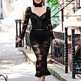 Wearing Dolce & Gabbana.