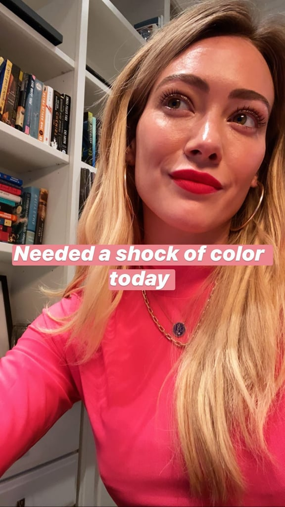 Hilary Duff's Mood-Boosting Lipstick Trick