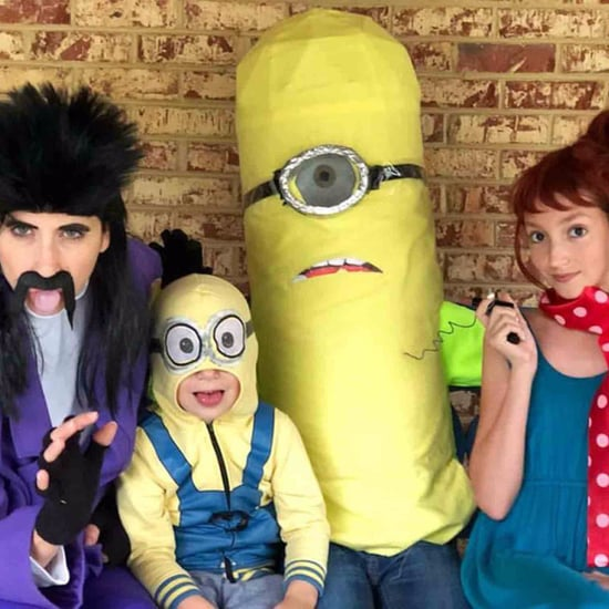 Mom Picks Kids Up From the Bus in Different Costumes