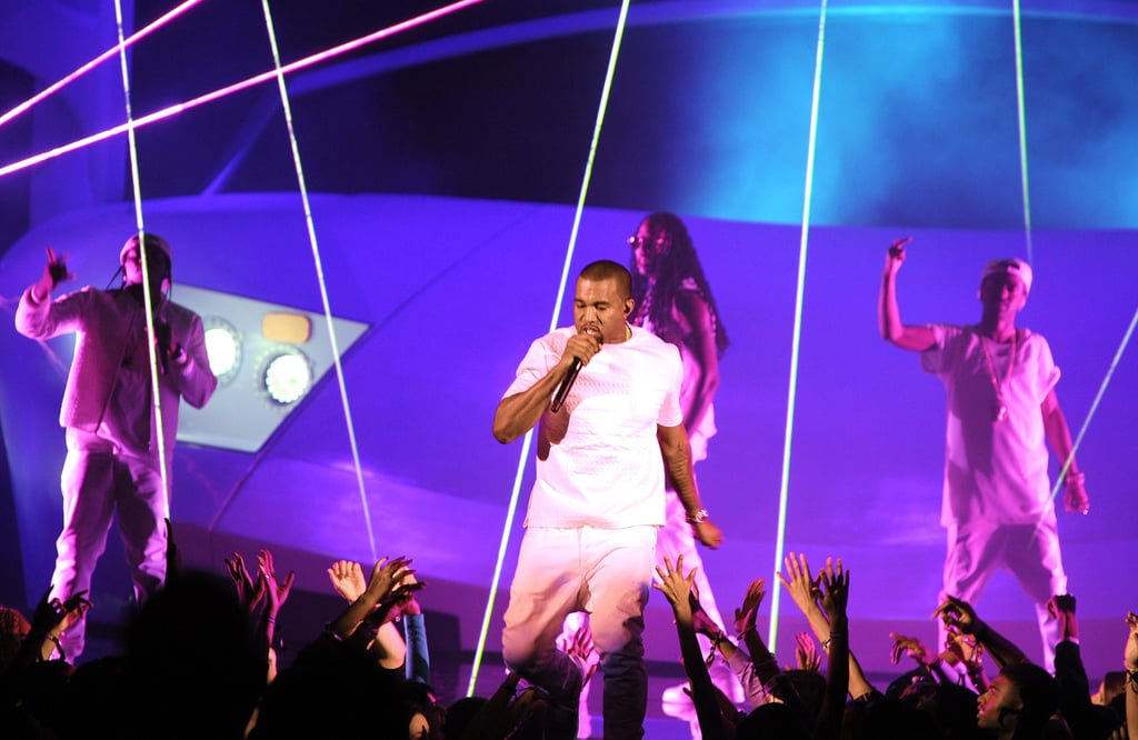 """Kanye Talks Love For Kim and Re-Enacts """"Imma Let You Finish"""" With Jay-Z at BET Awards"""
