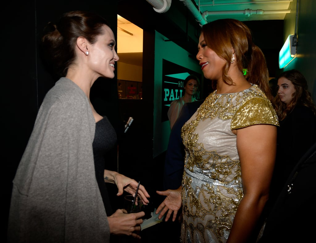 Angelina Jolie and Queen Latifah