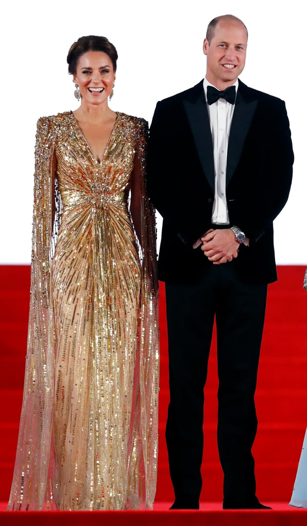 Kate Middleton's Gold Gown at the No Time to Die Premiere