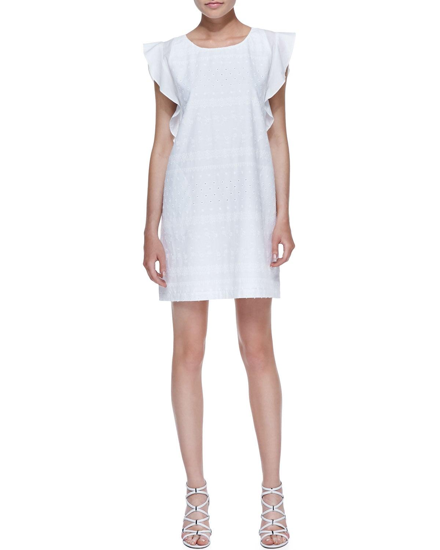 Rebecca Minkoff White Eyelet Dress