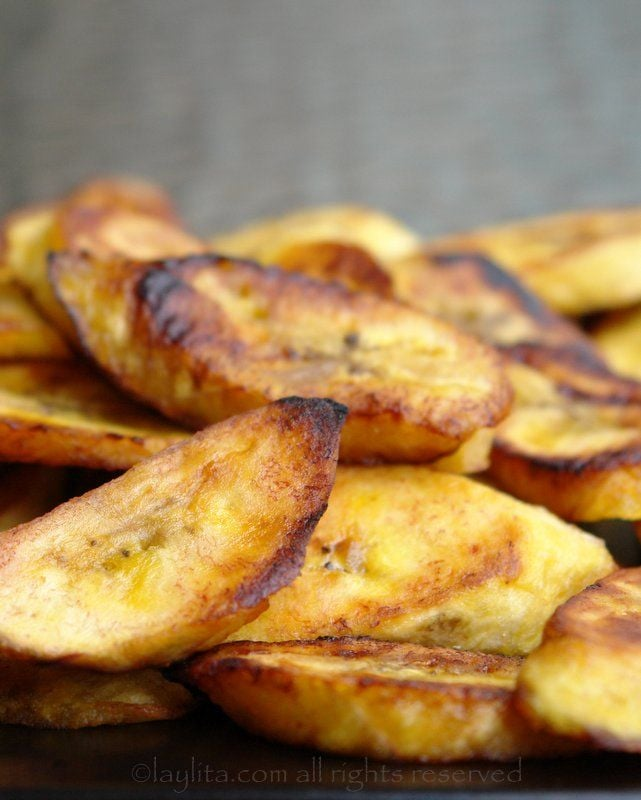 Platanos fritos, or fried plantains, are a staple in many Latin American countries and bring that sweet taste you may be craving to the a.m. meal.