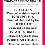 Arms and Core Workout