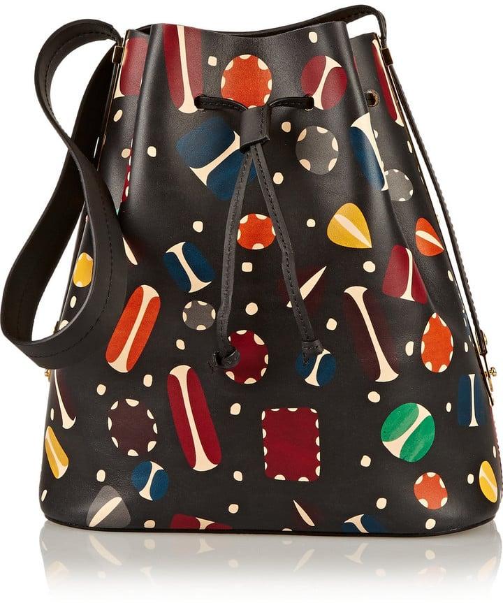 Sophie Hulme Extendable Printed Matte-Leather Bucket Bag ($610, originally $1,220)