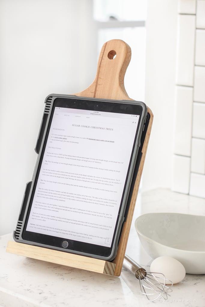 DIY Cutting Board Tablet Holder