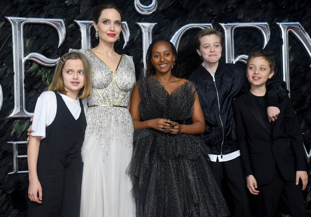 In October 2019, Angelina stepped out with Vivienne, Zahara, Shiloh, and Knox at the London premiere of Maleficent: Mistress of Evil.