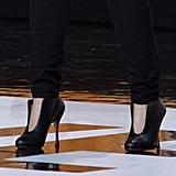 Princess Eugenie Black Heels