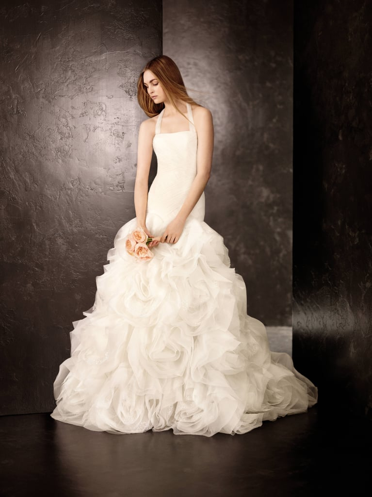 Fit and Flare Gown with Sequin and Tulle Flanges ($1,348) Photo courtesy of White by Vera Wang