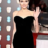 Angelina Jolie Ralph & Russo Dress at BAFTA Awards 2018