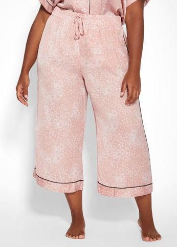 Ashley Stewart Satin Pajama Pants