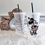 Minnie Mouse Personalized Iced Coffee Cup