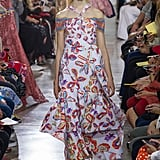 Michelle's already mastered a halter-neck silhouette like this one, and we know she'd be attracted to the kitschy-cool quality of Mr. Pilotto's fresh print. Peter Pilotto Spring 2017.