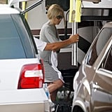 Jennifer Aniston shot scenes from her new film We're the Millers on set in North Carolina.
