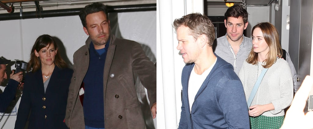 Ben Affleck, Matt Damon, and John Krasinski at Dinner