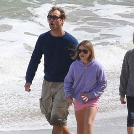 Pictures of Jude Law With Kids on Beach in Malibu