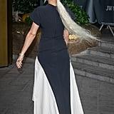 Rita Ora Wears Superlong Platinum Blond Ponytail