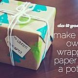 Potato Stamp Gift Wrap