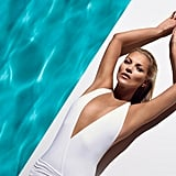 Kate Moss let it all hang out as the model for St. Tropez this year.