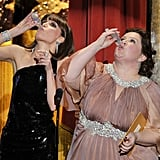 "Bridesmaids stars Rose Byrne and Melissa McCarthy continued their ""Scorsese"" drinking game from the Golden Globes."