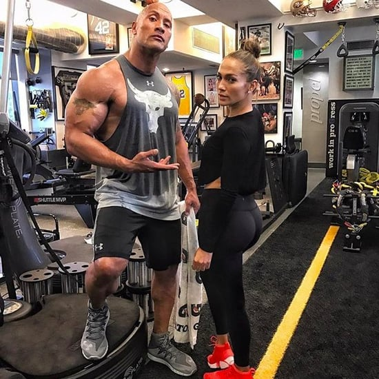 Dwayne Johnson and Jennifer Lopez Working Out