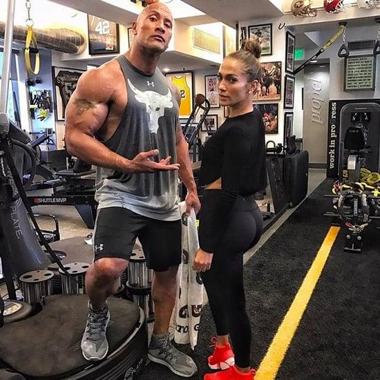 Dwayne Johnson and Jennifer Lopez Working Out