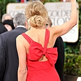 Stacy Keibler in a red dress at the Golden Globes.