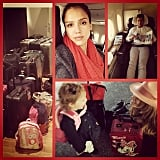 Jessica Alba lamented the end of her vacation with her youngest daughter, Haven Warren. Source: Instagram user jessicaalba