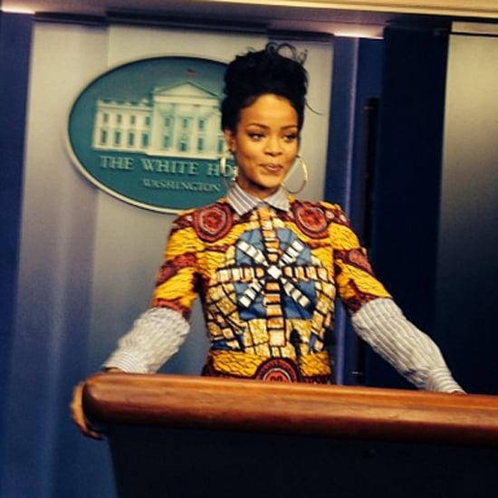 Rihanna Channels Her Inner Olivia Pope While Visiting the White House