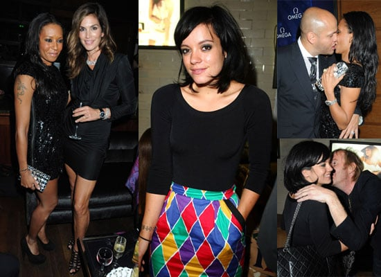 Photos of Rhys Ifans Kissing Lily Allen, Mel B Kissing Husband Stephen Belafonte, Plus Cindy Crawford at Omega Constellation