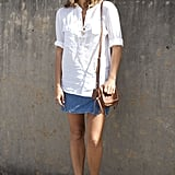With a crisp white top and Summer sandals.