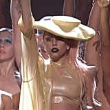 "Lady Gaga Singing ""Born This Way"" at the 2011 Grammy Awards"